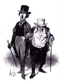 Oncle et neveu, Honoré Daumier(1808-1879)